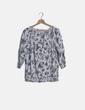 Blusa estampada floral manga larga Yessica