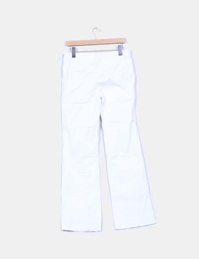 Pantalon blanco campana