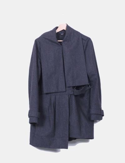Abrigo de paño gris marengo La Redoute