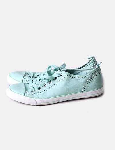 Bamba verde mint con cordones In Extenso