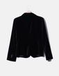 Blazer negra aterciopelada Zara