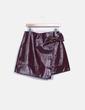 Falda plástica burdeos con hebilla Primark