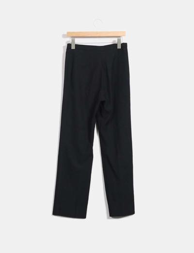 Pantalon recto negro