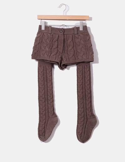 Conjunto de shorts y calentadores punto grueso Twenty Violets