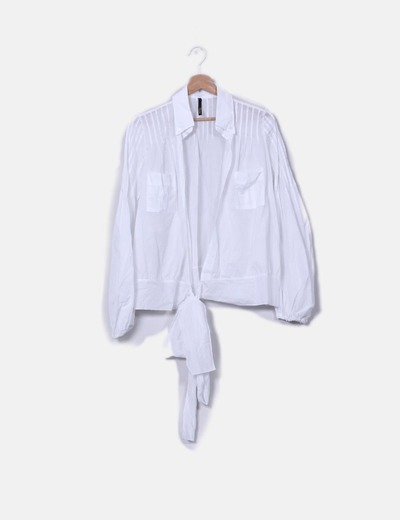Camisa blanca cruzada Ab/Soul Collection