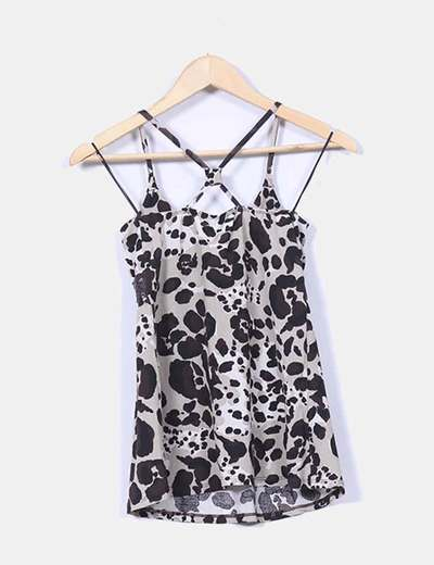 Top tirantes animal print con cinturon