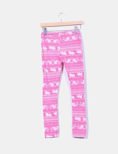 Leggings rosas print elefantes