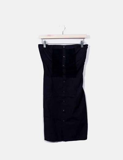 Vestido negro palabra de honor Pepe Jeans