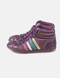 Zapatilla morada rayas multicolor Coolway