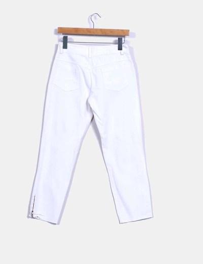 Pantalon pitillo blanc