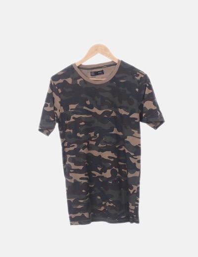 Camiseta camuflaje manga corta