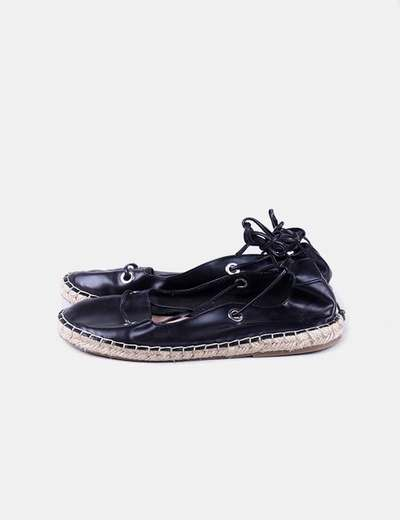Esparteña negra lace up Pull&Bear