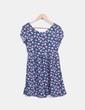 Vestido azul marino floral  Bershka