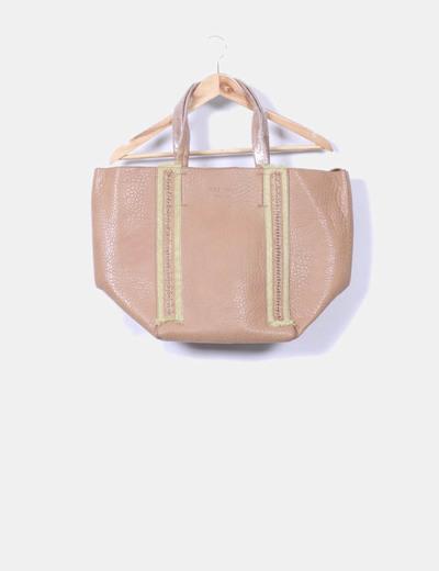 Bolso shopper detalles dorados Teria Yabar