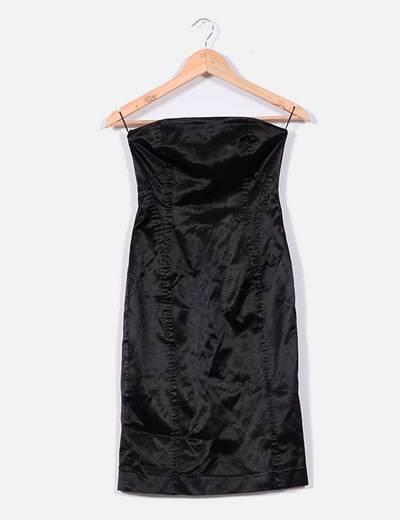 Vestido negro palabra de honor Mango