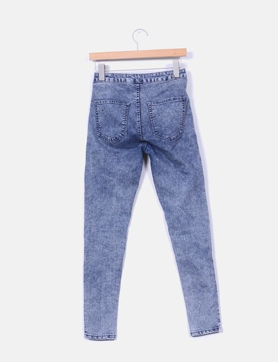 Jeggings denim azul medio