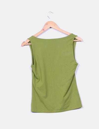 Camiseta verde de licra