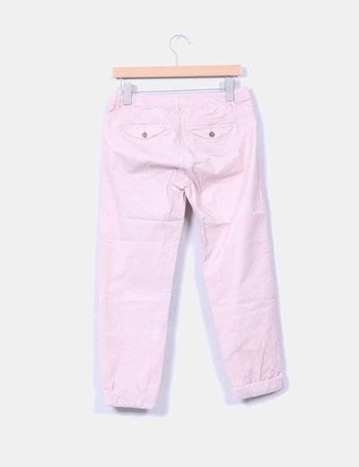 Pantalon baggy rosa palo