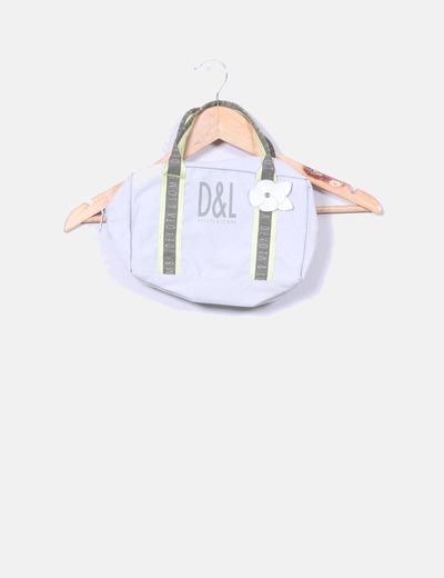 Bolso mini tela gris Devota & Lomba