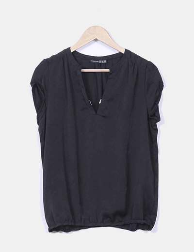 Blusa satinada negra Atmosphere