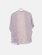 Conjunto de camisa y short fluido rayas marrones y blancas NoName