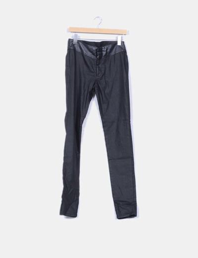 Jeans noirs similicuir slim Vero Moda