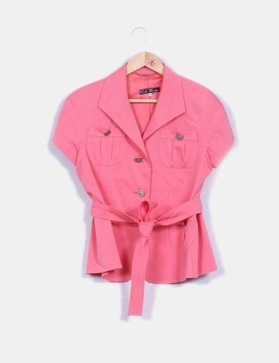 Chaqueta rosa manga corta NoName