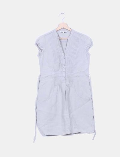 Vestido gris de lino NoName