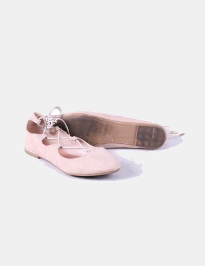 Zapato plano rosa