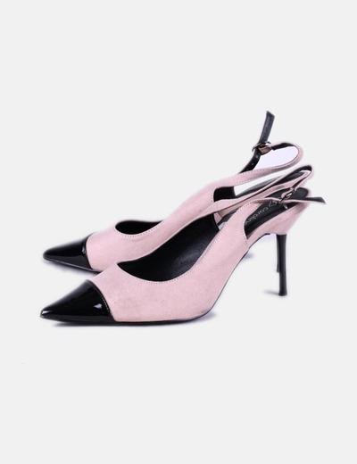 Chaussures roses en cuir verni noir toe Carolina Boix
