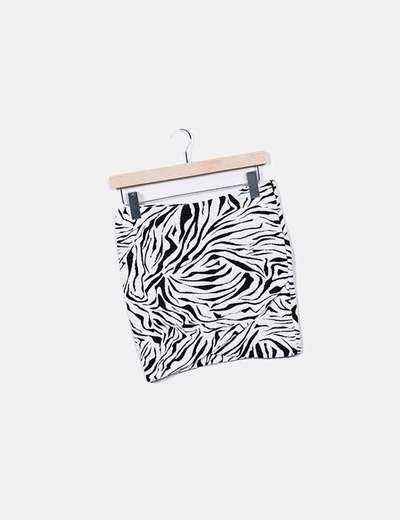 Mini-jupe imprimé animal Ba&Sh