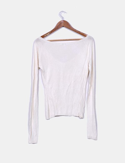 Top tricot color crudo