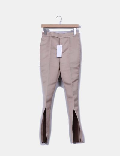 Pantalón rígido beige de pinzas Esteban Cortazar
