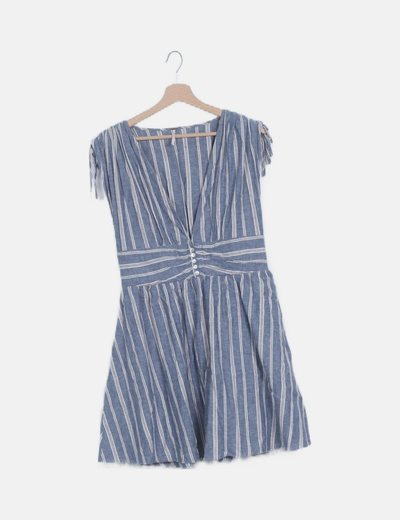 Vestido mini rayas azul