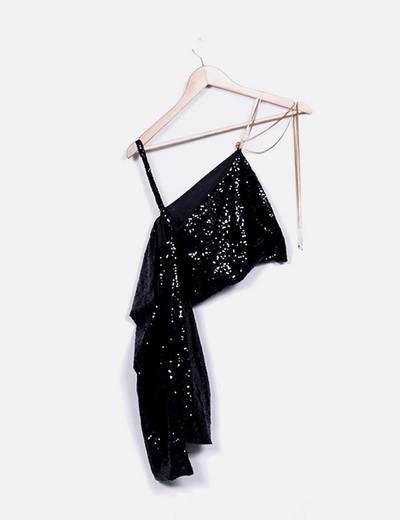 Vestido negro abalorios NoName