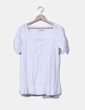 Top blanco cuello redonda Zara