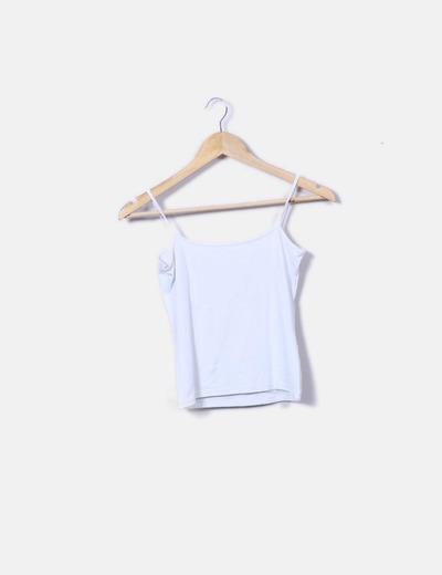 Camiseta blanca de licra