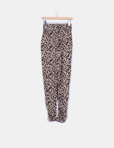 Pantalon baggy animal print