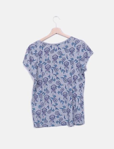 Camiseta gris print atrapasuenos