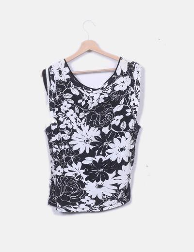 en venta numerosos en variedad excepcional gama de estilos y colores Blusa estampado blanco negro