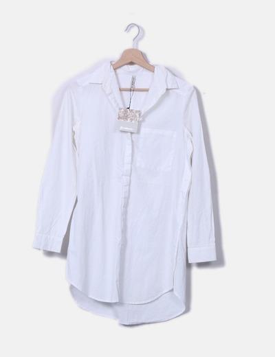 7aae594d0 Stradivarius Camisa blanca larga manga larga (descuento 66%) - Micolet