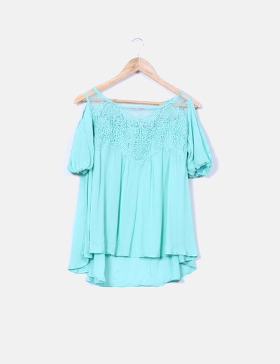 Blusa evasé verde mint Fashion Pills