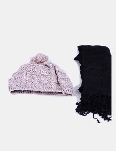 Chapeau et écharpe ensemble Shana
