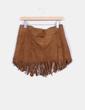 Mini falda antelina con flecos Pull&Bear