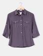 Blusa semitransparente gris  H&M