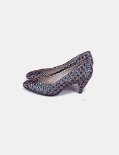 Zapatos kitten heels glitter Bimba&Lola