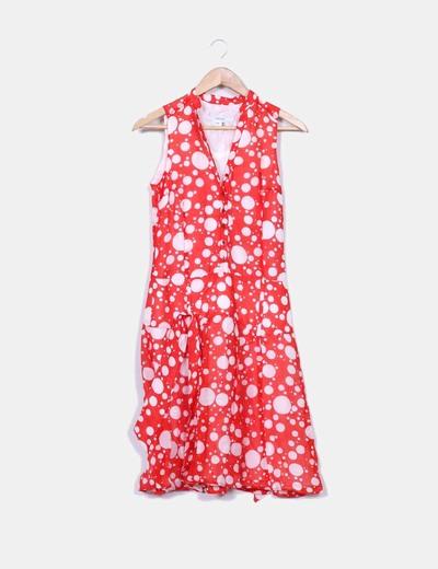 65f8348701694 Zara Vestido rojo y blanco de lunares (descuento 81%) - Micolet