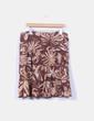 Falda midi marrón estampada con abalorios Yera