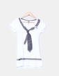 Top blanco print corbata  Bershka