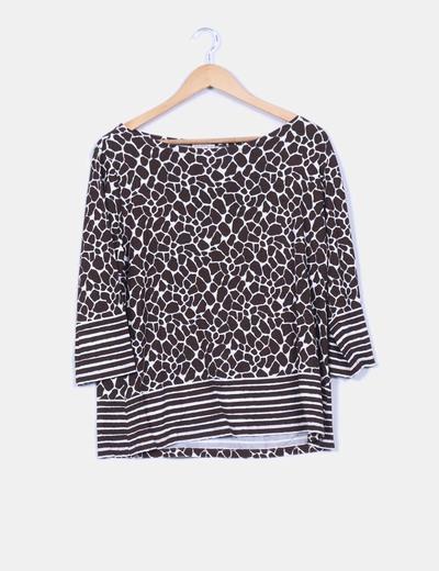 Camiseta animal print jirafa con rayas  Lloyd's